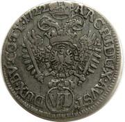 6 Kreuzer - Karl VI (Hall) -  reverse