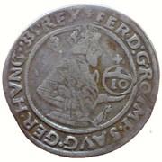 10 Kreuzer - Ferdinand I (Hall) -  obverse