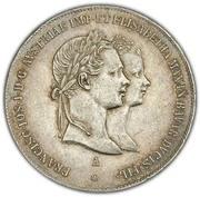 2 Gulden - Franz Joseph I (Wedding) -  obverse