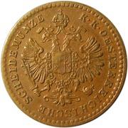 5/10 Kreuzer - Franz Joseph I (large eagle) -  obverse