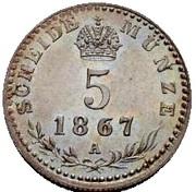 5 Kreuzer - Franz Joseph I -  reverse