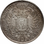 1 Thaler - Karl VI (Vienna) -  reverse