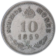 10 Kreuzer - Franz Joseph I -  reverse
