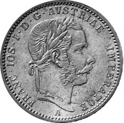 ¼ Florin - Franz Joseph I -  obverse