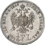 ¼ Florin - Franz Joseph I -  reverse
