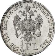 ¼ Florin - Franz Joseph I – reverse