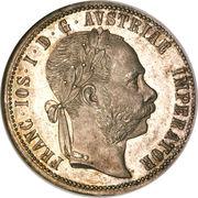 1 Florin - Franz Joseph I (Pribram Mine) -  obverse