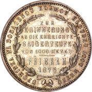 1 Florin - Franz Joseph I (Pribram Mine) -  reverse