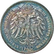 1 Thaler - Franz Joseph I (Third German Shooting Festival) -  obverse