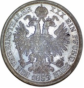 1 Vereinsthaler - Franz Joseph I – reverse