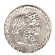 2 Gulden - Franz Joseph I (Silver Wedding Jubilee) -  obverse