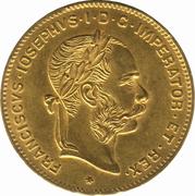 4 Florins / 10 Francs - Franz Joseph I -  obverse