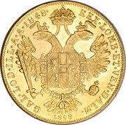 1 Ducat - Franz Joseph I (Golden Jubilee) -  reverse