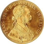4 Ducats - Franz Joseph I -  obverse