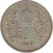 1 Corona - Franz Joseph I -  reverse