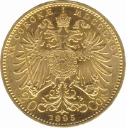 20 Corona - Franz Joseph I -  reverse