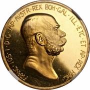 100 Corona - Franz Joseph I (Reign) -  obverse