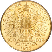 100 Corona - Franz Joseph I -  reverse