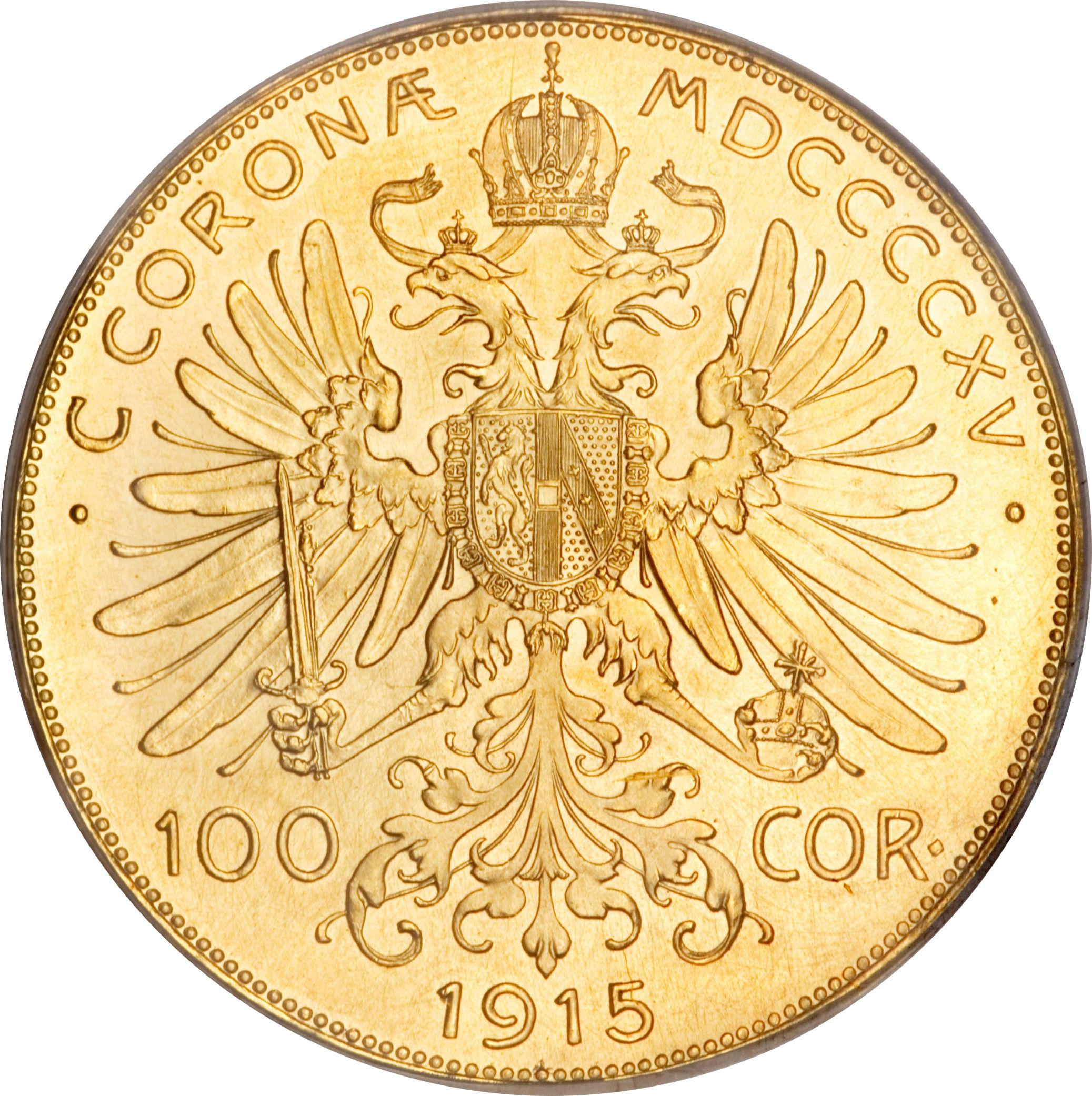 G 1915 Austrian 100 Corona Value