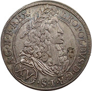 15 Kreuzer - Leopold I (Hall) -  obverse