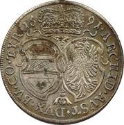 15 Kreuzer - Leopold I (Hall) -  reverse