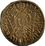 15 Kreuzer - Leopold I (Mainz) -  reverse