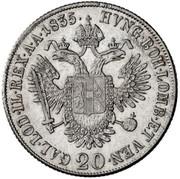 20 Kreuzer - Ferdinand I -  reverse