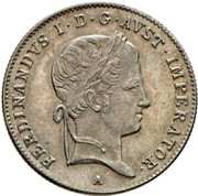 10 Kreuzer - Ferdinand I -  obverse