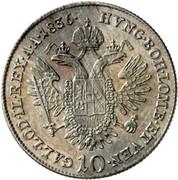 10 Kreuzer - Ferdinand I -  reverse
