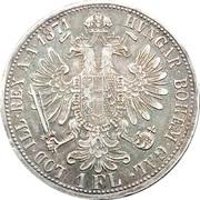 1 Florin - Franz Joseph I – reverse