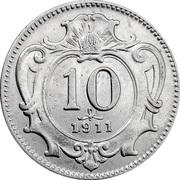 10 Heller - Franz Joseph I -  reverse