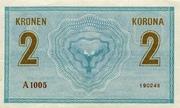 2 Kronen – reverse