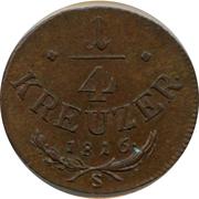 ¼ Kreuzer - Franz II – reverse