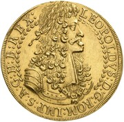 10 Ducat - Leopold I (Hall) – obverse