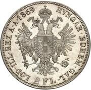 2 Florin - Franz Joseph I – reverse