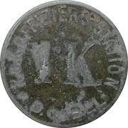 1 Krone - Deutsch-Gabel (K.u.K. Offiziers station) – reverse
