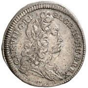 3 Kreuzer - Karl VI (Vienna) -  obverse