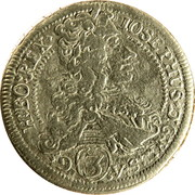 3 Kreuzer - Joseph I (Graz) -  obverse