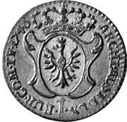 1 Kreuzer - Maria Theresia (Hall) -  reverse