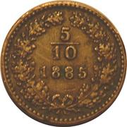 5/10 Kreuzer - Franz Joseph I -  reverse