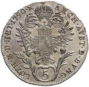 5 Kreuzer - Joseph II -  reverse