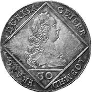 30 Kreuzer - Franz I -  obverse