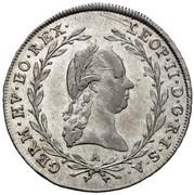 10 Kreuzer - Leopold II -  obverse