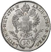 10 Kreuzer - Leopold II -  reverse