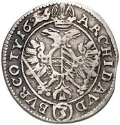 3 Kreuzer - Ferdinand II (St Pölten) -  reverse