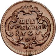 1 Pfening - Maria Theresia (Vienna) -  reverse
