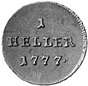 1 Heller - Joseph II -  reverse