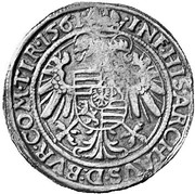 30 Kreuzer ½ Guldenthaler - Ferdinand I (Hall) -  reverse