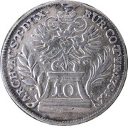 10 Kreuzer - Maria Theresia (Hall) -  reverse
