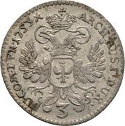 3 Kreuzer - Maria Theresia (Hall) -  reverse